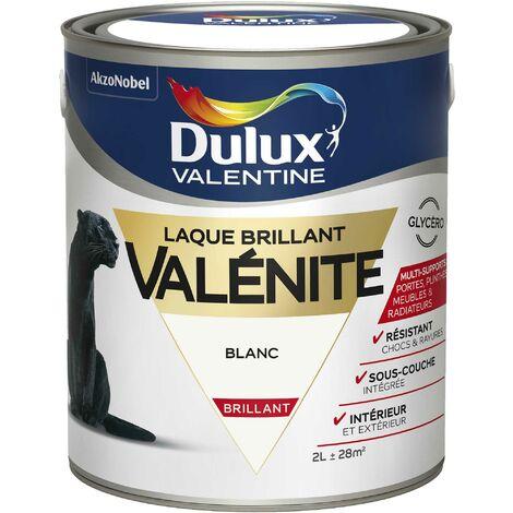 Peinture Laque Valénite Brillant Blanc 2 L - Dulux Valentine