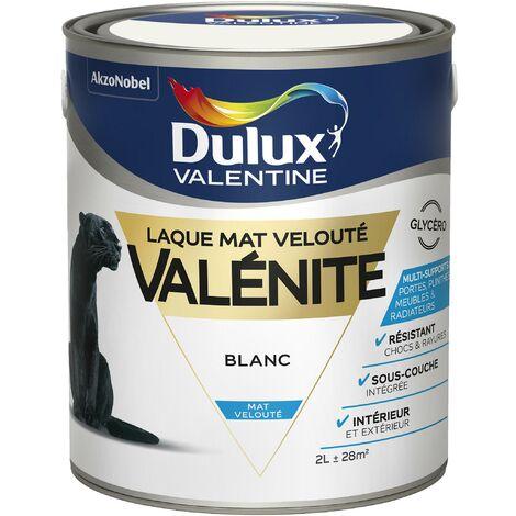 Peinture Laque Valénite Mat Blanc 2 L - Dulux Valentine