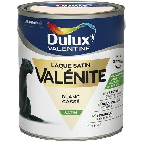 Peinture Laque Valénite Satin Blanc Cassé 2 L - Dulux Valentine