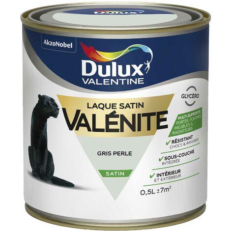 Peinture Laque Valénite Satin Gris Perle 0,5 L - Dulux Valentine