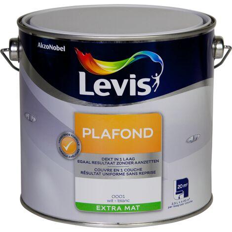 "main image of ""Peinture Levis Plafond blanc extra mat 2,5L"""