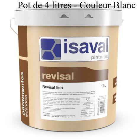 Peinture Lisse Pour Façade Revisal lisse 4 Litres Blanc - Isaval
