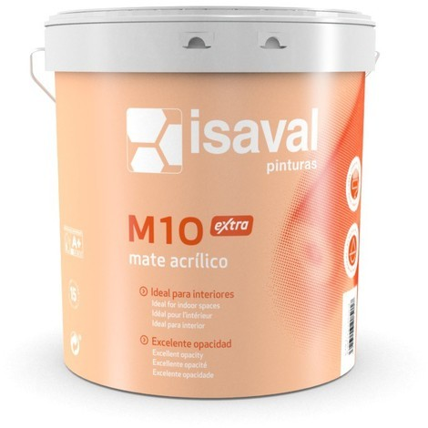 Peinture M10 Extra Mat plafond Monocouche 15 Litres Blanc - Isaval