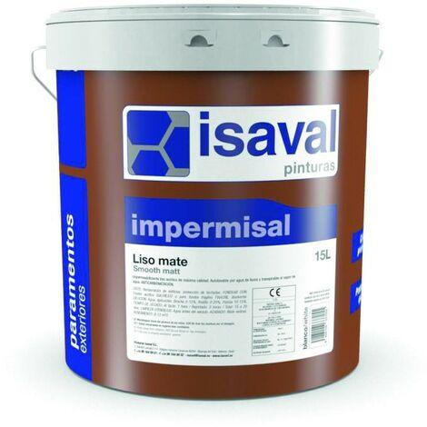Peinture Mat D2-D3 Fut de 15 Litres blanc Impermisal - Isaval