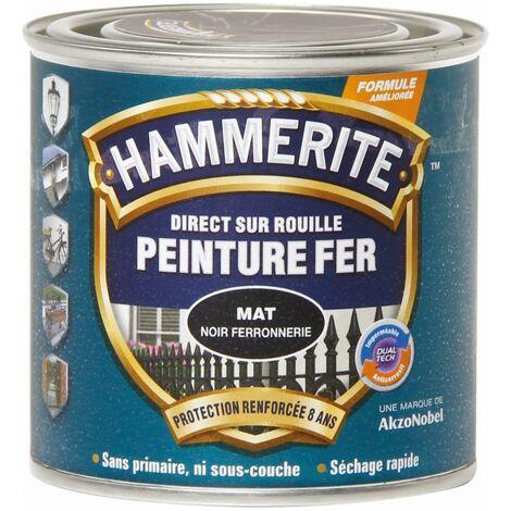 """main image of """"Peinture mat ferronerie noire 250 ml - HAMMERITE - Noir Ferronnerie"""""""