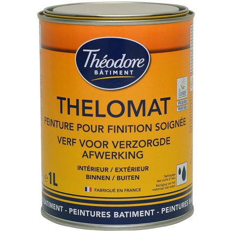 Peinture mate de qualité supérieure classée Ecolabel, recommandée pour les plafonds : Thelomat