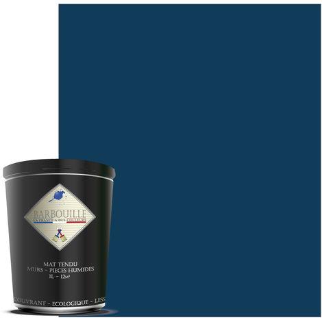 Peinture mate idéale pour vos murs et plafonds de toutes vos pièces, salle de bain et cuisine incluses. - Couleur : Bleu - Abyssal