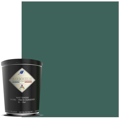 Peinture mate idéale pour vos murs et plafonds de toutes vos pièces, salle de bain et cuisine incluses. - Couleur : Bleu - Pétrole