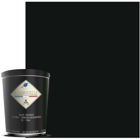 Peinture mate idéale pour vos murs et plafonds de toutes vos pièces, salle de bain et cuisine incluses. - Couleur : Gris & Noir - Maléficio