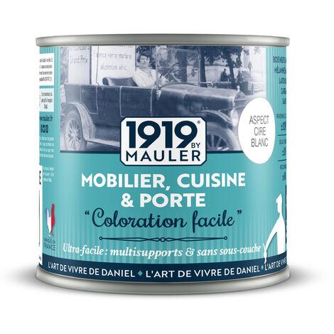 """main image of """"Peinture meuble, cuisine, crédence """"Coloration Facile"""" - blanc 1L - aspect cire blanc"""""""