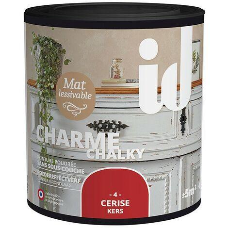 Peinture meubles et boiseries CHARME 500ML CERISE - ID Paris