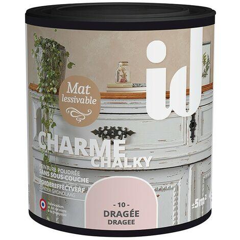Peinture meubles et boiseries CHARME 500ML DRAGEE - ID Paris - dragée