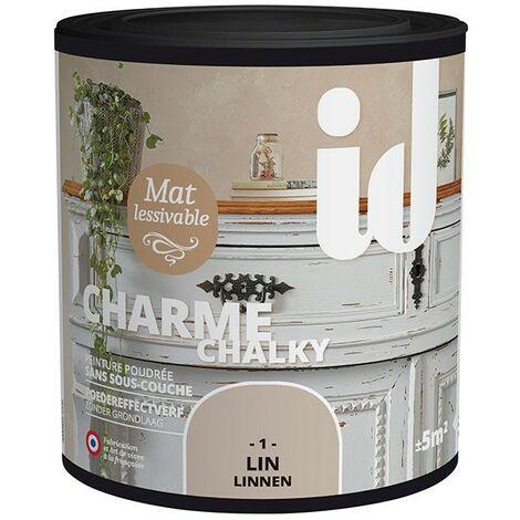 Peinture meubles et boiseries CHARME 500ML LIN - ID Paris
