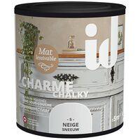 Peinture meubles et boiseries CHARME 500ML NEIGE - ID Paris