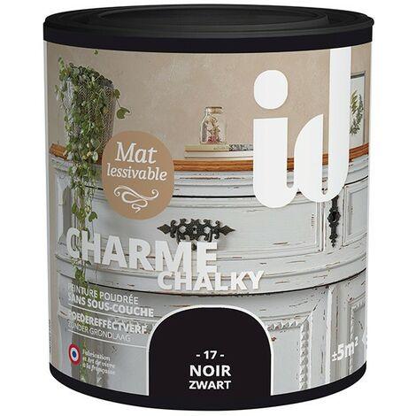 Peinture meubles et boiseries CHARME 500ML NOIR - ID Paris