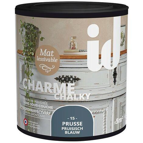 Peinture meubles et boiseries CHARME 500ML PRUSSE - ID Paris