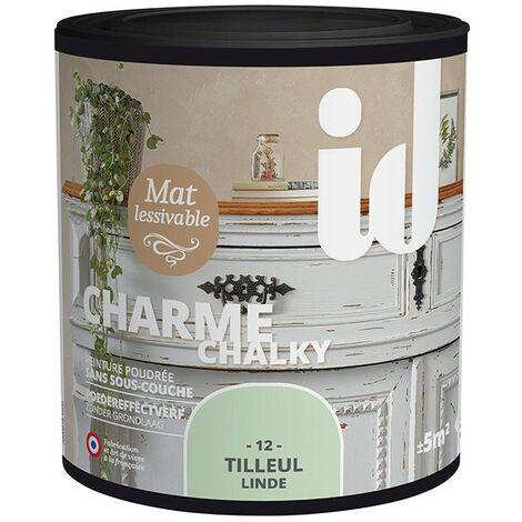Peinture meubles et boiseries CHARME 500ML TILLEUL - ID Paris