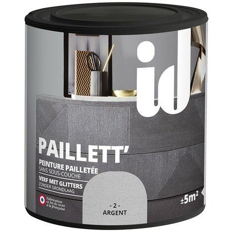 Peinture meubles et boiseries PAILLETT 500ML ARGENT - ID Paris