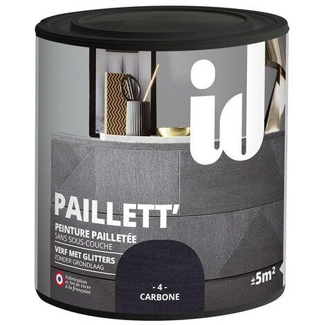 Peinture meubles et boiseries PAILLETT 500ML CARBONE - ID Paris