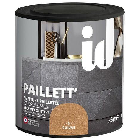Peinture meubles et boiseries PAILLETT 500ML CUIVRE - ID Paris