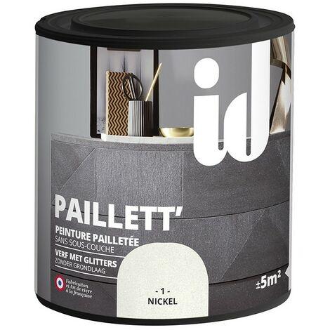 Peinture meubles et boiseries PAILLETT 500ML NICKEL - ID Paris