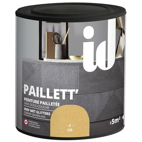 Peinture meubles et boiseries PAILLETT 500ML OR - ID Paris