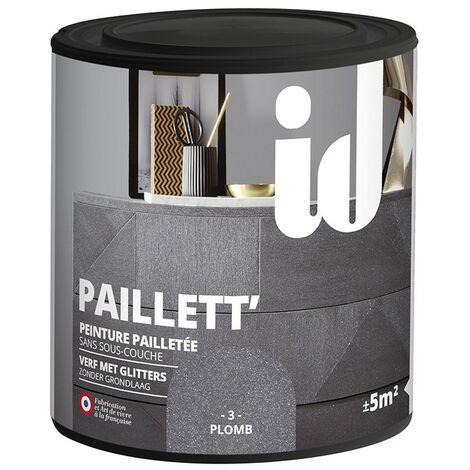 Peinture meubles et boiseries PAILLETT 500ML PLOMB - ID Paris