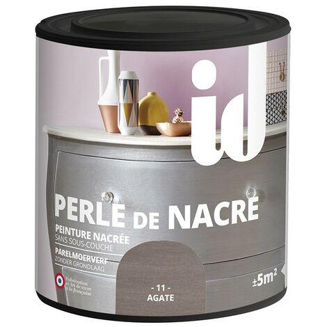 Peinture meubles et boiseries PERLE DE NACRE 500ML AGATE - ID Paris