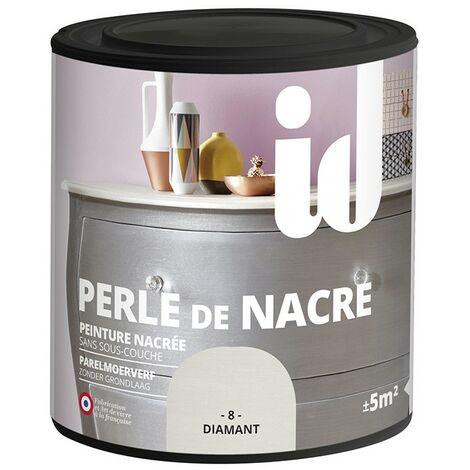 Peinture meubles et boiseries PERLE DE NACRE 500ML DIAMANT - ID Paris