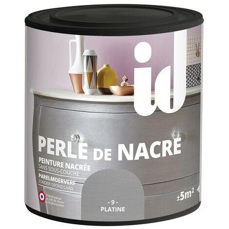 Peinture meubles et boiseries PERLE DE NACRE 500ML PLATINE - ID Paris