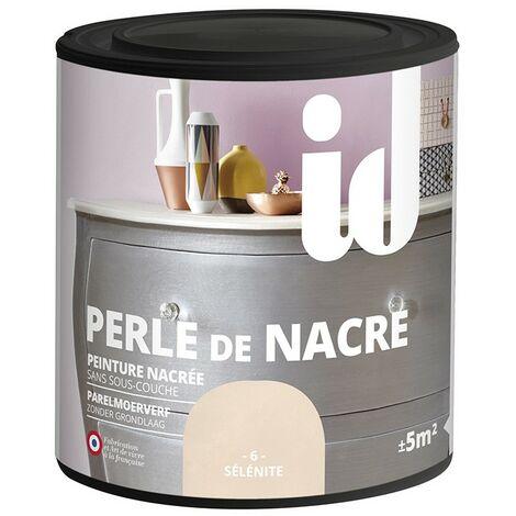 Peinture meubles et boiseries PERLE DE NACRE 500ML SELENITE - ID Paris - sélènite
