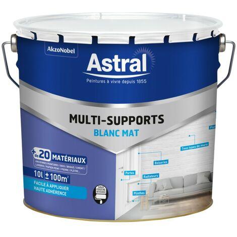 Peinture Multi-matériaux mat Blanc Base W 10L