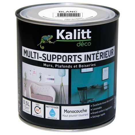 Peinture multi-support satin blanc 0.5 litre