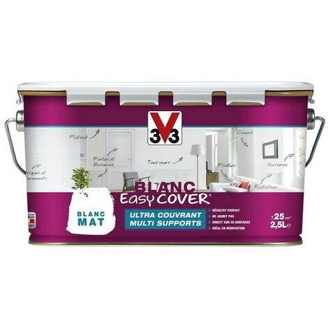 Peinture multi supports blanc V33 2,5L easy cover - plusieurs modèles disponibles