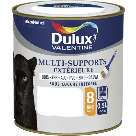 Peinture Multi-Supports Extérieure Satin Blanc (RAL 9003) 0,5 L - Dulux Valentine