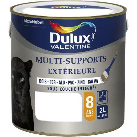 Peinture Multi-Supports Extérieure Satin Blanc (RAL 9003) 2 L - Dulux Valentine