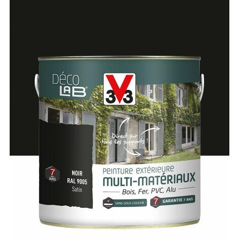 Peinture multimatériau extérieur Décolab® V33 noir satiné 2 l