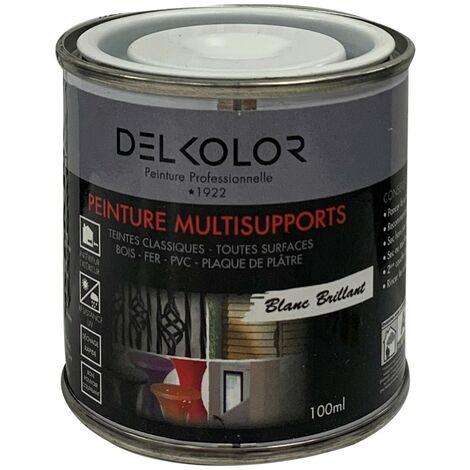 Peinture multisupports RAL 9010 Blanc Brillant 100ml | Couleur: Blanc pur RAL 9010