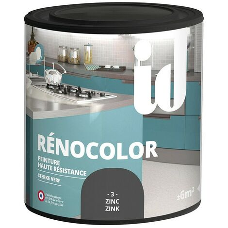 Peinture multisurface RENOCOLOR ZINC 450ML - ID Paris