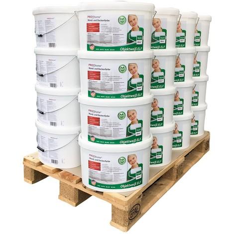 Peinture mur et plafond PROFHOME peinture universelle pour intérieurs bien couvrante blanche mate 1 palette 32 boîtes