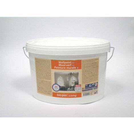 """main image of """"Peinture murale blanc mate BIOPIN pour murs et plafonds intérieurs 10L - pot(s) de 10L - blanc"""""""