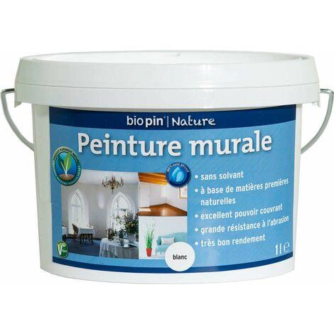 Peinture murale intérieure naturelle 1 L - Blanc
