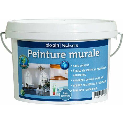 Peinture murale intérieure naturelle 1 L - Bleu pacifique