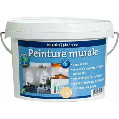 Peinture murale intérieure naturelle 1 L - Jaune genêt