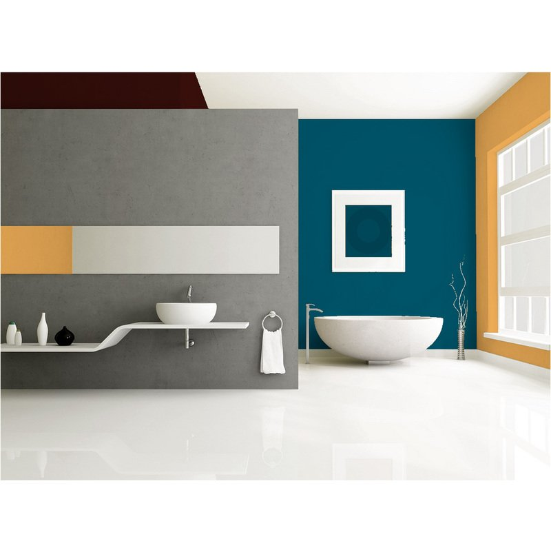 Peinture Murale monocouche couleur bleu canard 2,5Litres SATIN