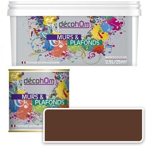 Peinture Murale monocouche couleur Chocolat 0,5Litre SATIN
