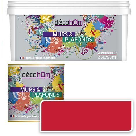 Peinture Murale monocouche couleur Framboise 0,5Litre SATIN