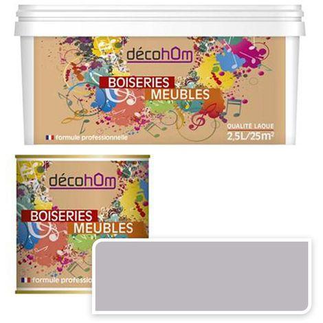 Peinture Murale monocouche couleur Gris perlé 0,5Litre MAT