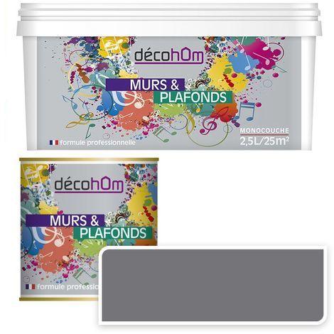 Peinture Murale monocouche couleur Grise 0,5Litre SATIN