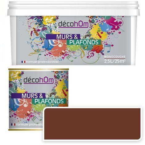 Peinture Murale monocouche couleur Marron 0,5Litre MAT